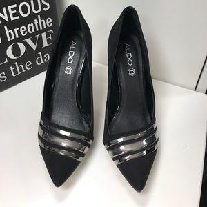 Aldo black heels, 7.5