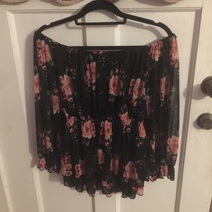 Off the shoulder floral dressy top