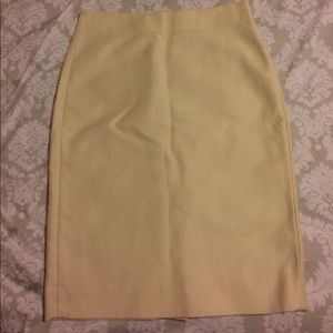 Jcrew No 2 pencil skirt in cream sz 00