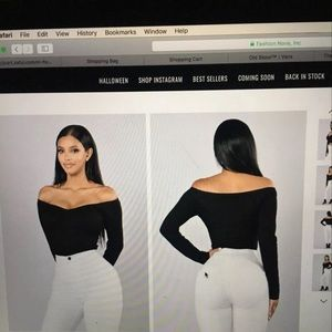 Fashion Nova Off The Shoulder Bodysuit