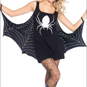 NEW Halloween goth spider web dress small