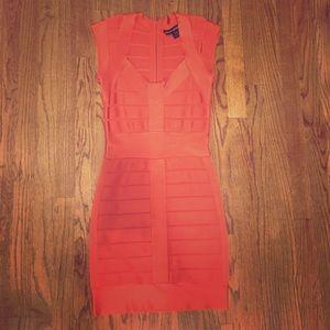 French Connection Tangerine Bandage Dress