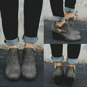 GRAY Cut Out Booties