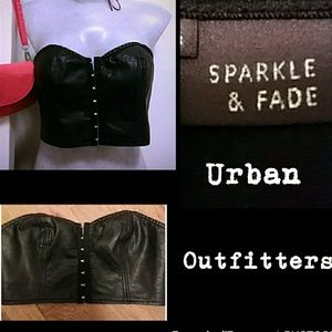 Nwot pvc leather Sparkle & Fade bustier/bralette