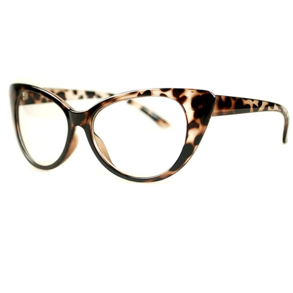 cca5c334aef7 Accessories | Cat Eye Leopard Print Retro Glasses | Poshmark