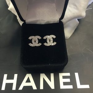 New 10k gold real gold Chanel earrings