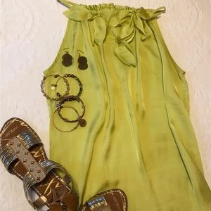 Chartreuse sleeveless top
