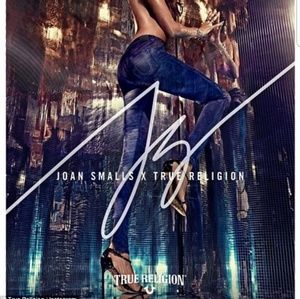 True Religion x Joan Smalls Satin Skinnys