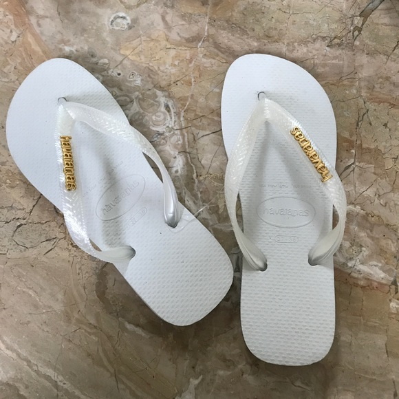 e79eb64ee Havaianas Shoes - Never worn - coveted WHITE HAVAIANAS - from BRAZIL