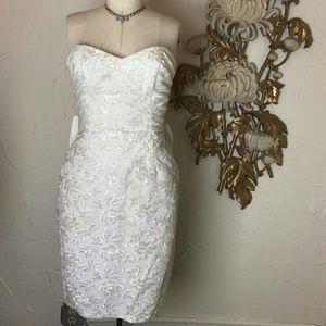 white sequin vintage dress