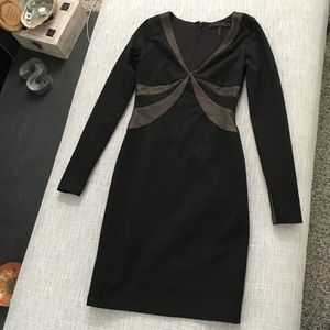 BCBG black long sleeve dress XS