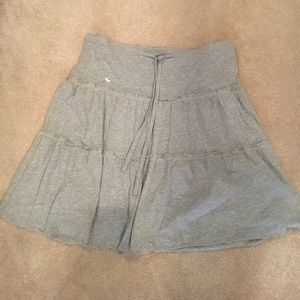 Abercrombie & Fitch gray cotton skirt