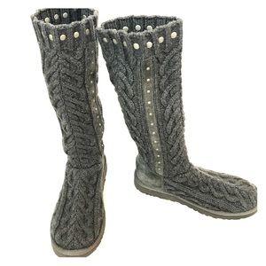 UGG Feliciana Dark Gray Knit Boots