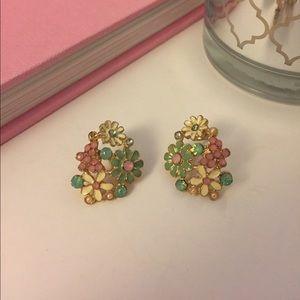 Pastel Enamel Flower Earrings
