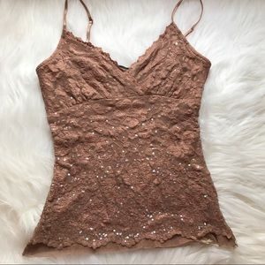 [Arden B] lace camisole with sequins size Small