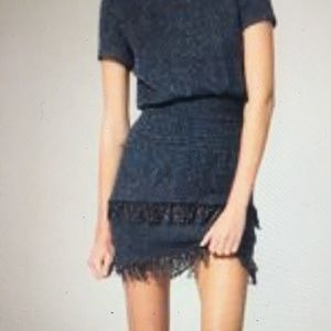 Maje Rabata tiered tweed mini dress