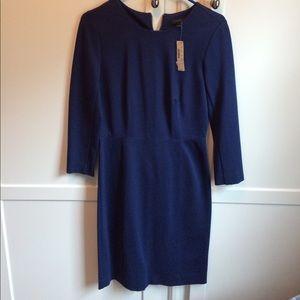 J. Crew Navy Ponte Dress