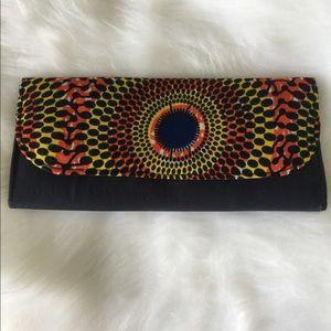 African fabric clutch