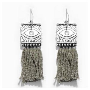 JUST IN: Boho cotton tassel dangle earrings