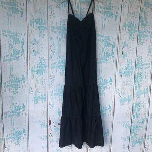 NWT Ann Taylor Loft Denim tiered maxi dress size 2