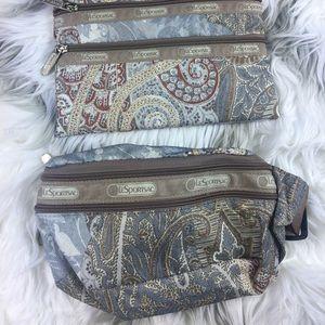 LeSportsac fanny pack & makeup bag