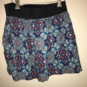 forever 21 paisley mini skirt pockets