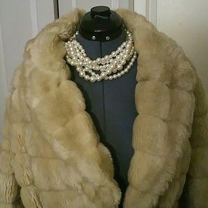 Buy 1 Get 3 Free - Curvy Size Faux Fur Cream Coat