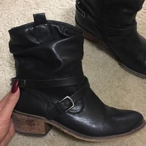Real leather women's boots