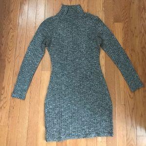 Gray, knot sweater dress