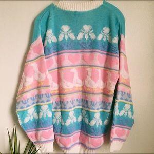 Vintage 80s Love Duck Sweater Arielle Brand