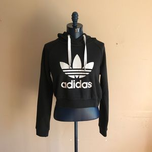 New Adidas Cropped Logo Hoodie