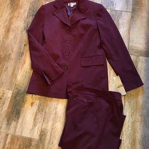 Beautiful burgundy two piece suit