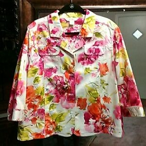 Colorful TanJay jacket.