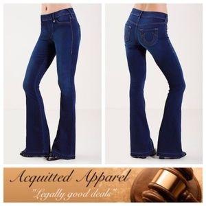 "{True Religion} Wide Leg Raw Hem jeans 37"" inseam"