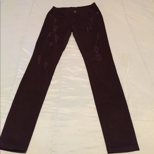 Black ripped distress pants