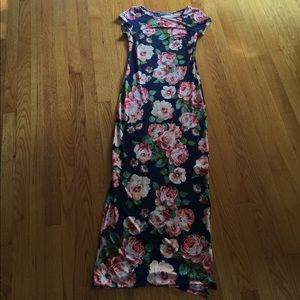 Floral fitted long dress