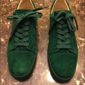 finest selection b6ccf 38d38 Men's low top green Christian Louboutin sneakers