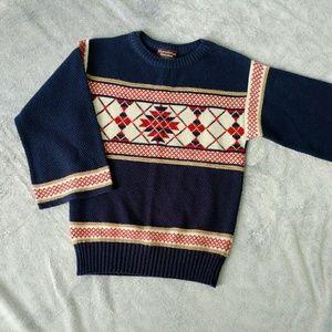 × Vintage 1970's Fair Isle Bell Sleeve Sweater ×