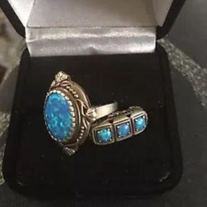 2 vintage inspired opal rings