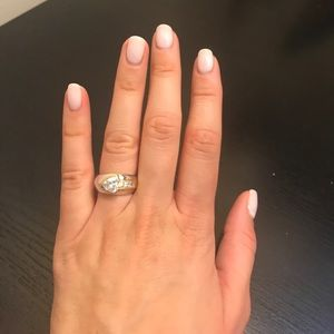 Gold and Silver Fashion Ring - Size 7