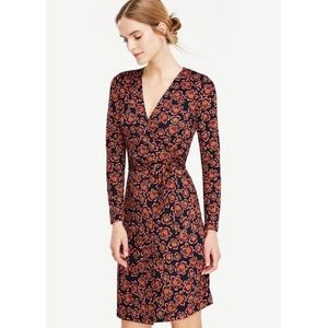 ann taylor blooms matte jersey wrap dress