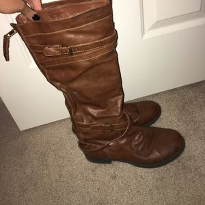 Madden Girl brown leather riding boots