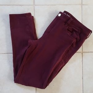 Burgundy 360 Super stretch skinny jeggings
