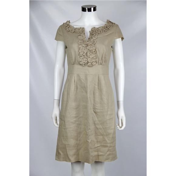 2f935f4782c Adrienne Vittadini Dresses   Skirts - Adrienne Vittadini 100% Linen Ruffle  Sheath Dress