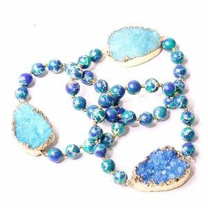 Jewelry - Jasper Crystal Druzy Stone Bracelet