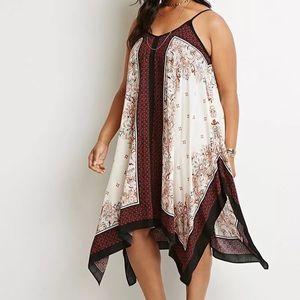 Forever 21 Plus paisley trapeze dress size XL