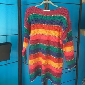 Colorful retro oversized sweater from the limited