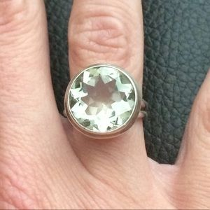 Aquamarine 925 Sterling Silver Gemstone ring