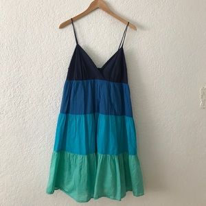 New York and company color block cotton dress