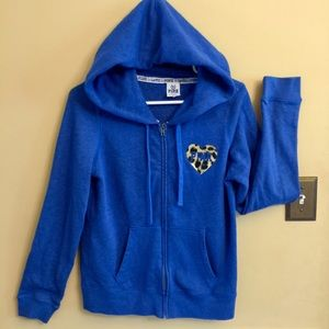 Victoria's Secret PINK Jacket - Blue w Cheetah